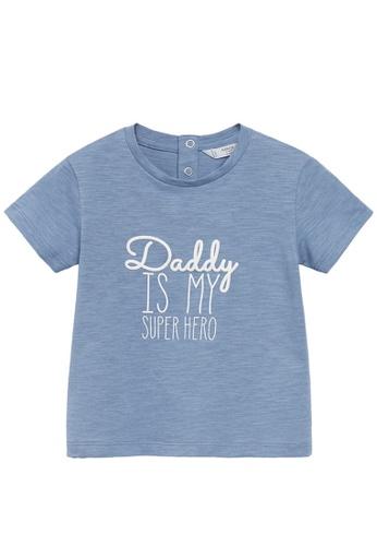 MANGO BABY blue Organic Printed Cotton T-Shirt A7299KA046F6C2GS_1