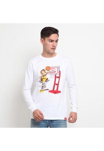 Skill Monky white Skill Monky Basketball Long Sleeve White T-shirt E7975AADE4E931GS_1