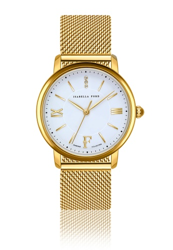 Isabella Ford white Isabella Ford Selene Gold Mesh Women Watch A8020AC93ACC67GS_1