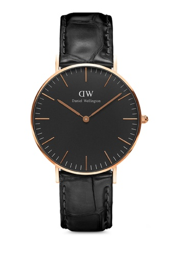 Daniel Wellington black and gold Classic Reading Black 36mm Rose Gold Watch 7C54BAC059C9CBGS_1