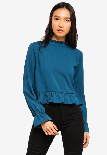 Cotton On green Bree Frill Blouse 1B641AA20CD5BEGS_1