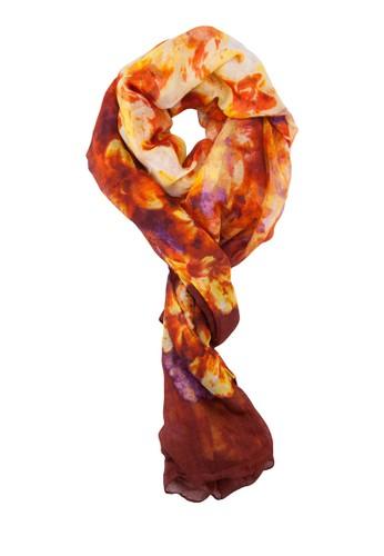 染esprit台灣outlet色花卉圍巾, 飾品配件, 圍巾及披肩