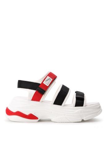 Twenty Eight Shoes 白色 魔術貼厚鞋底涼鞋B40 BCF1ASH6B2D69AGS_1