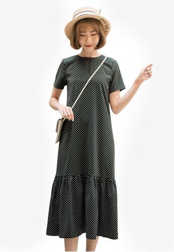 Tokichoi black Dotted Frill Hem Dress AE41EAA3A6E413GS_1