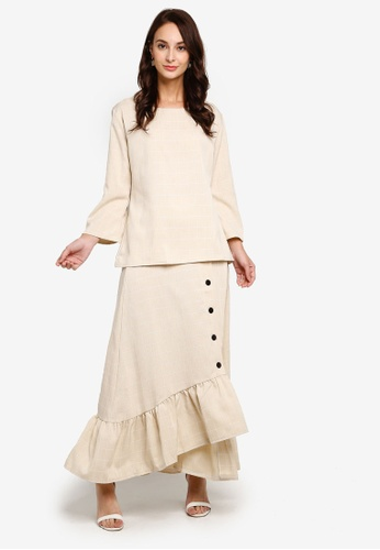 Check Casual Suit from BYN in Beige