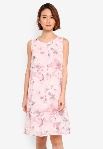 Wallis pink Blush Floral Split Front Dress 5B3E5AA3F49042GS_1