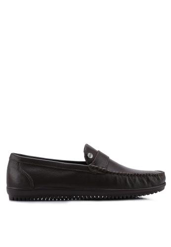 Carlton London brown Slip On Loafers 8B17BSHCD1A937GS_1