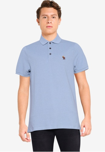 Abercrombie & Fitch blue Core Icon Polo Shirt 19EC2AA80BCAE8GS_1