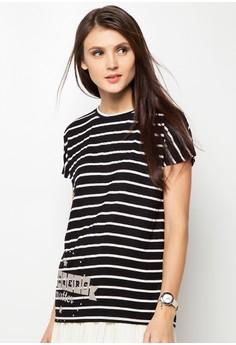 Ladies' Striped Long Top