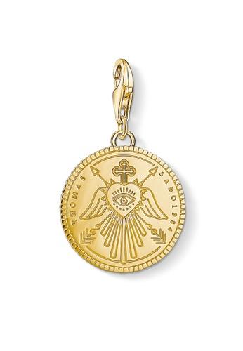"THOMAS SABO gold Charm pendant ""disc gold"" 9E1B8AC16B1CE7GS_1"