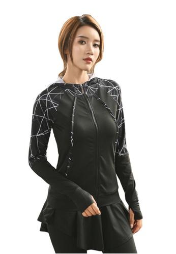 B-Code black ZYG3081-Lady Quick Drying Running Fitness Yoga Sports Jacket -Black 74D7BAA20BB342GS_1