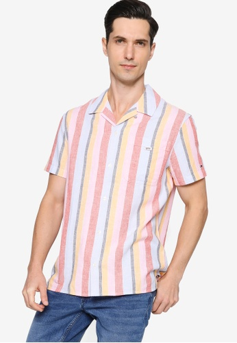 Tommy Hilfiger multi Tjm Striped Camp Shirt - Tommy Jeans 9FAD7AA42AE06AGS_1