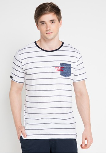 X8 white and multi Ace T-Shirts X8323AA0VWHTID_1