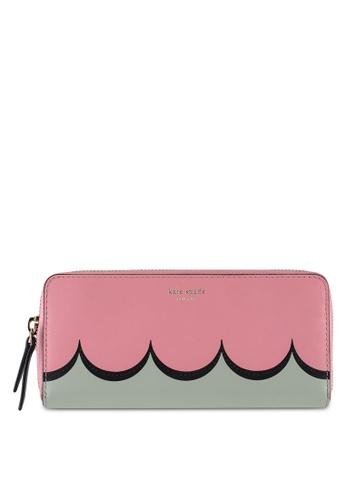 kate spade new york pink Slim Continental Wallet (cv) 068BAACD71CC53GS_1