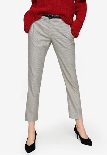 Mango black Cotton Suit Trousers D71E9AA0DC4E3EGS_1