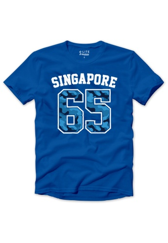 DENIZEN blue DENIZEN National Day Short Sleeve Cool Blue Singapore 65 Tee DZ-37367-1174 87A46AAAB67BE8GS_1