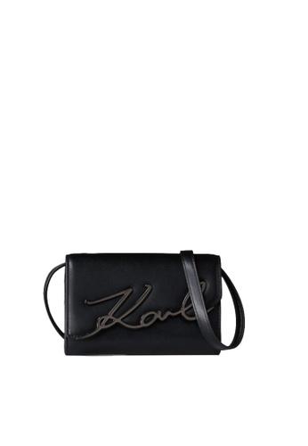 KARL LAGERFELD black K/Signature Belt Bag 198FEACE5BCEAFGS_1