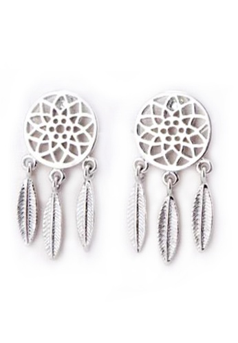 YOUNIQ silver YOUNIQ Basic Korean Dream Catcher Drop Earring-Silver 7B351AC36B4145GS_1