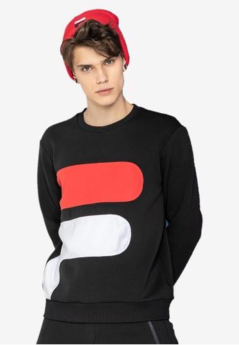 808d93306af7 Buy Fila White Line F Logo Sweatshirt Online on ZALORA Singapore