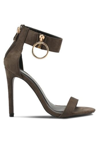 Something Borrowed green Ankle Detail Heels 4D895SH5FCD892GS_1