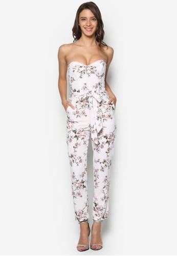 花卉抹胸繫帶連身長褲, esprit 香港韓系時尚, 服飾