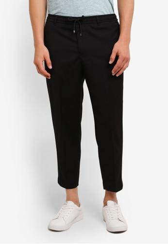 Topman black Black Side Zip Smart Trousers TO413AA0RMN6MY_1
