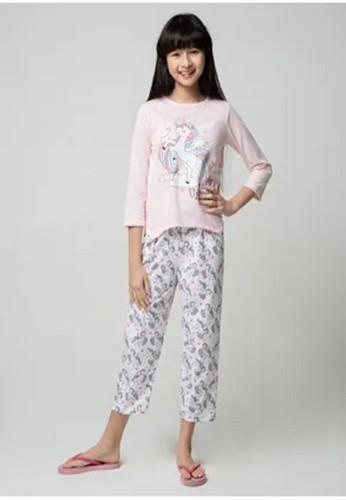 Boboo pink Piyama Anak Long Shirts Rainbow Unicorn LSLP87 093EAKACB2D03EGS_1