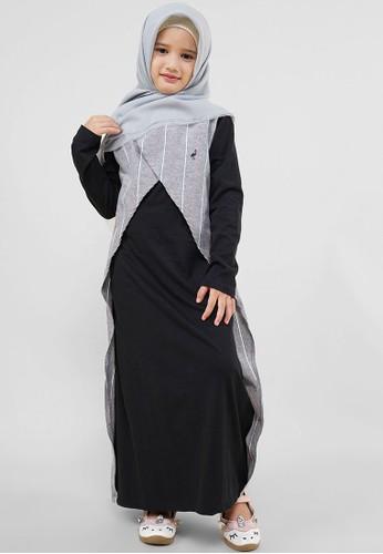 Cressida Kids black and grey Aszria Dress 3116FKAD8E767EGS_1