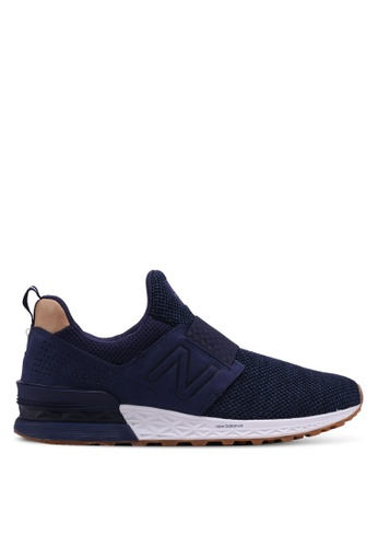 New Balance navy 574 Sports Luxe Lifestyle Sneakers 83E3DSHDE27404GS_1