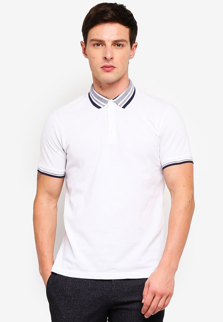 Polo Collar G2000 Tone 2 Pique White Shirt tqCTEOw