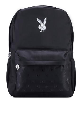 Playboy black Playboy Backpack B6D6EAC7882D85GS_1