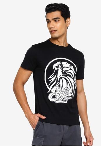 KOTON black Eagles League T-Shirt 082D8AA18F1892GS_1