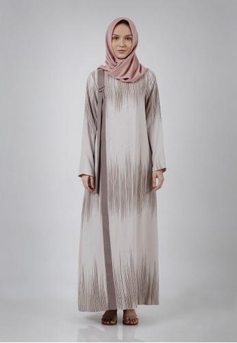 The Executive brown Lebaran Jenahara Drawstring Buckle Gamis Modest Wear BE64EAA038E45AGS_1