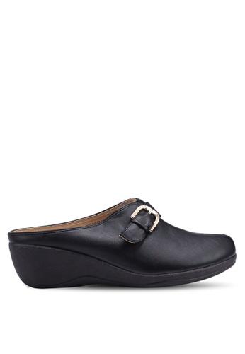 Louis Cuppers 黑色 質感楔形鞋 A831FSH81F1B71GS_1