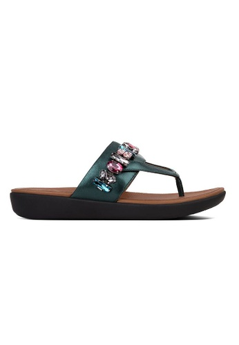 FitFlop green Fitflop Delta Bejewelled Toe Post (Galactic Green) 0954DSHDE06822GS_1