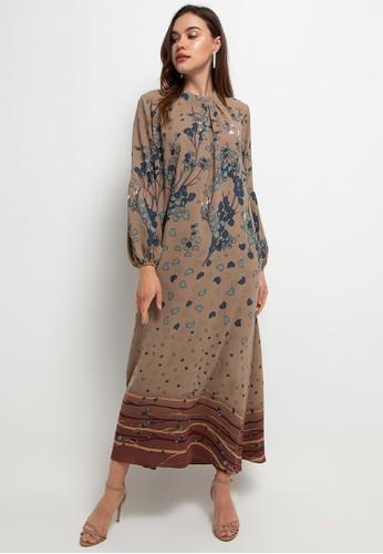 Kamilaa by Itang Yunasz brown Gamis Modern 9A510AA711C284GS_1