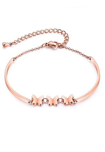 ADORA gold Stainless Steel Butterfly Bracelet 143D2AC045F294GS_1