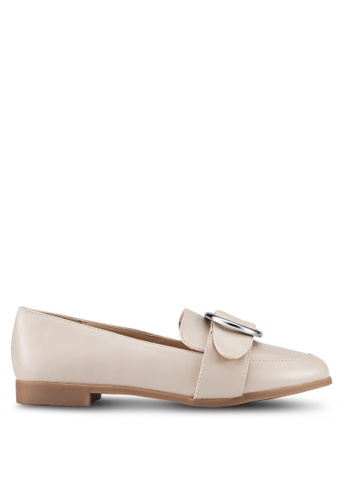 ZALORA brown and beige PU Loafers F1583ZZ33155DDGS_1