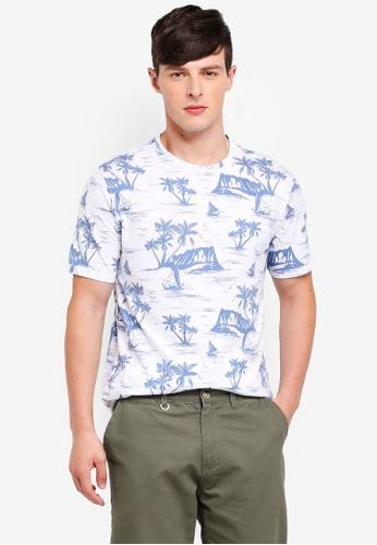 Burton Menswear London 白色 短袖印花T恤 A568CAA1D18009GS_1
