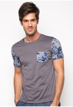 Anmer Two-Tone Short Sleeve Shirt with Pocket