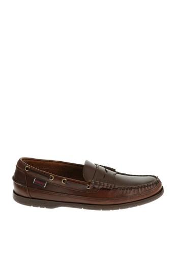 Sebago brown Sloop Boat Shoes SE328SH65YNIPH_1