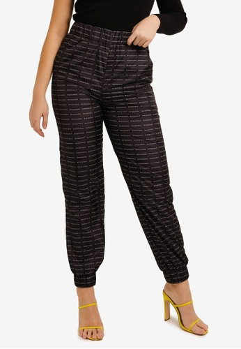 MISSGUIDED black Small Branded Jogger Co Ord Pants A084EAA4E52563GS_1