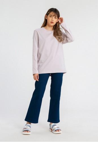 ALOWALO lilac purple ALOWALO - Long Sleeve T-shirt Crew Neck Women - Lilac Hint B14EEAAC609582GS_1
