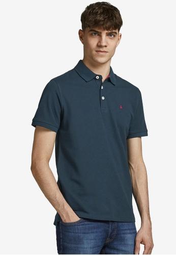 JACK & JONES navy Paulos Outlined Polo Shirt B4101AAD38993AGS_1