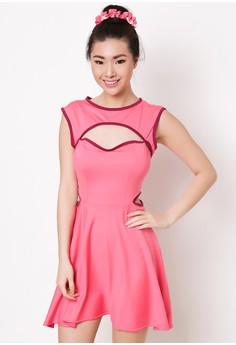 Carmina Dress with Matching Hair Ponytail