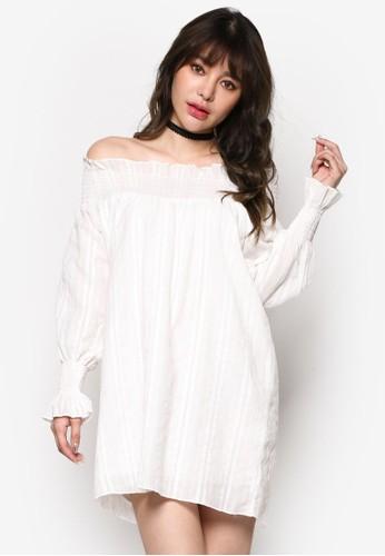 彈性露肩連身裙, 服飾, esprit官網洋裝