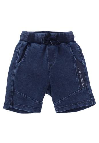 FOX Kids & Baby blue Denim French Terry Shorts 19B16KAB696D94GS_1