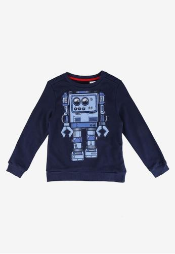 Desigual navy Lights Plush Sweatshirt EEEBAKAB24F919GS_1