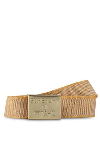SUPERDRY gold Boston Fabric Belt F176FAC0E7F0EAGS_1