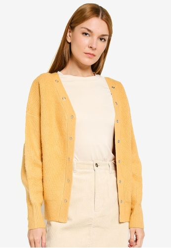 niko and ... yellow Stud Buttons Cardigan B9E3EAA9F4A7FFGS_1